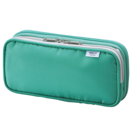 LIHIT LAB Smart Fit Double Pen Case Large - Green