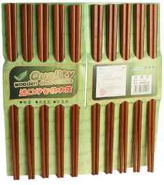 Eetstokjes 10 paar 25cm hout bruin