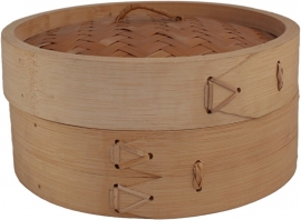 Bamboo steam basket with lidØ15 cm