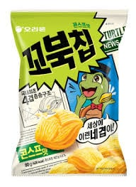 Orion Korean Popular Snacks Turtle Chips Corn soup flavor 160g