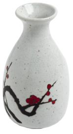Sake fles Japanse pruimen bloesem