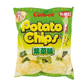 Calbee Potato Crisps - Seaweed 20x55g bag
