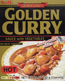 Golden Vegetable Curry Hot 230G S&B