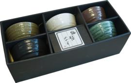 Minoyaki bowlset Ø12 cm x H7 cm  5  stuks