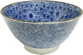 Blauwe bloemen patroon 19,5 x 10,2cm