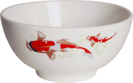 Rice bowl red koi pattern Ø15 cm