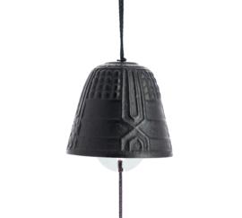 Iwachu Furin Feng Shui Bell Black 4,5 cm