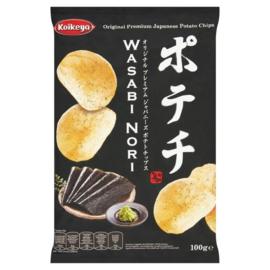 Koikeya Potato Chips Wasabi Nori 100g