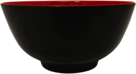 Bowl 15cm red/black