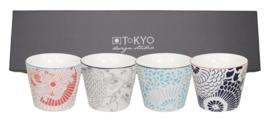 Shiki Cup set  8,3x6,5cm (4 stuks)