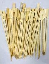 Bamboe Prikkers dik plat 15cm 100pcs
