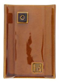 Incense Burner Yukari Plate brown