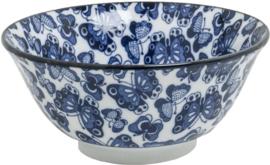 Blue Bowl pattern Butterfly Mix Ø15 cm | H7 cm Ø15 cm | H7 cm