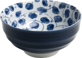 Blauwe Japanse bloemen Bol Ø16,5 cm | H8 cm E5