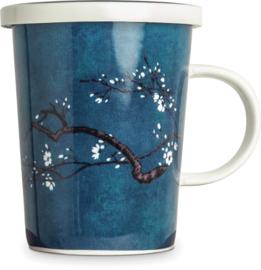 Theekop met filter - Magnolia blauw  Ø9,5 cm | H11 cm