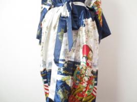 Japanse Kimono Lang Donker Blauw