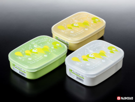 Obento Hapiness L lunchbox 650ml Wit