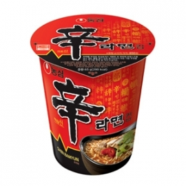 Shin Ramen cup Instant Noodles Hot & Spicy 68g
