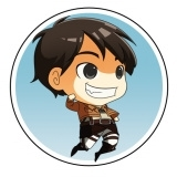 Attack on Titan C Button