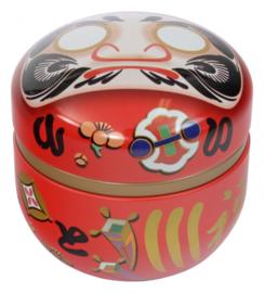 Tea Storage box Daruma Red 80g