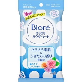 Kao Biore Sara Sara Body Powder Sheets Aquatic Rose Fragrance