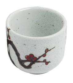 Sake cup  Japanese plum blossom