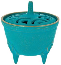 Incense burner Iwachu Bowl turquoise Ø8.3xH8.1 cm