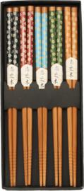 Eetstokjes bamboe Japans Retro