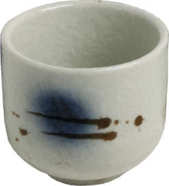 Stone Sake cup black/blue