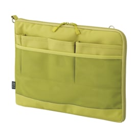 LIHIT LAB Smart Fit Bag in Bag Horizontal Version A4 Green