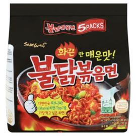 Korean Fire Noodle 5-PACK Hot chicken Ramen 140g