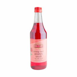 Syrup with rose flavor