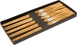 Eetstokjes bamboe Japans gekruld