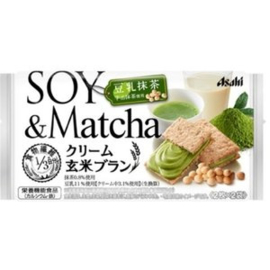 Asahi Cream Brown Rice Bran Soy Matcha 72g