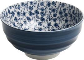 Blauwe Japanse bloemetjes Bol Ø16,5 cm | H8 cm E5