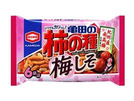 Kakinotane Umeshiso Plum 6p (rice crackers) 182g
