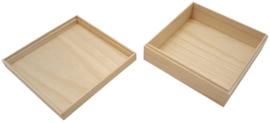 Bento Box Hout L20,9 x B20,9 x H7 cm