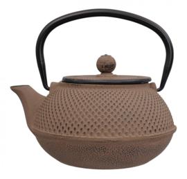 WY Tea Kettle Iron Brown Round 0.8L
