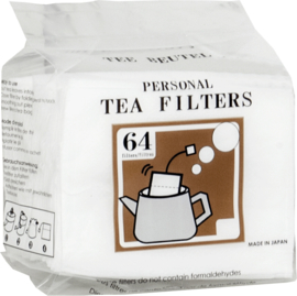 Tea filters with string 64pcs