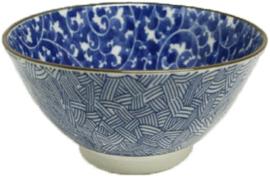 Blauwe bloemen patroon Varens 19,5 x 10,2cm