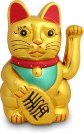Shohuku Lucky Cat Gelukskat 45CM Goud XXL Beweegbaar