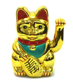 Japanse Lucky Solar Cat groot 18cm