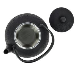 Wave Iwachu Teapot 650 ml Black