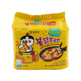 Korean Fire Noodle (Cheese)  5-PACK Hot chicken Ramen 140g