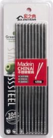 Chopsticks roestvrij staal 5 paar