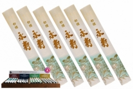 Byakudan Eiju Japanse wierook  Sandelhout 8g (50 stokjes)