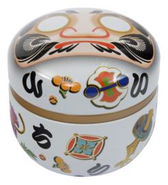 Tea Storage Box Daruma White 80g