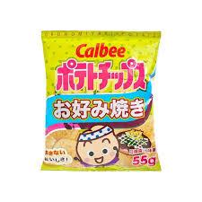 Calbee Crisps Okonomiyaki Potato Chips 55g