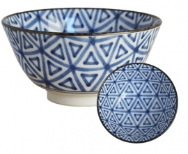 Old Nippon Blue Pattern Triangle 13x6,8cm