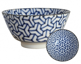 Old Nippon Blue Pattern Geometric 13x6,8cm